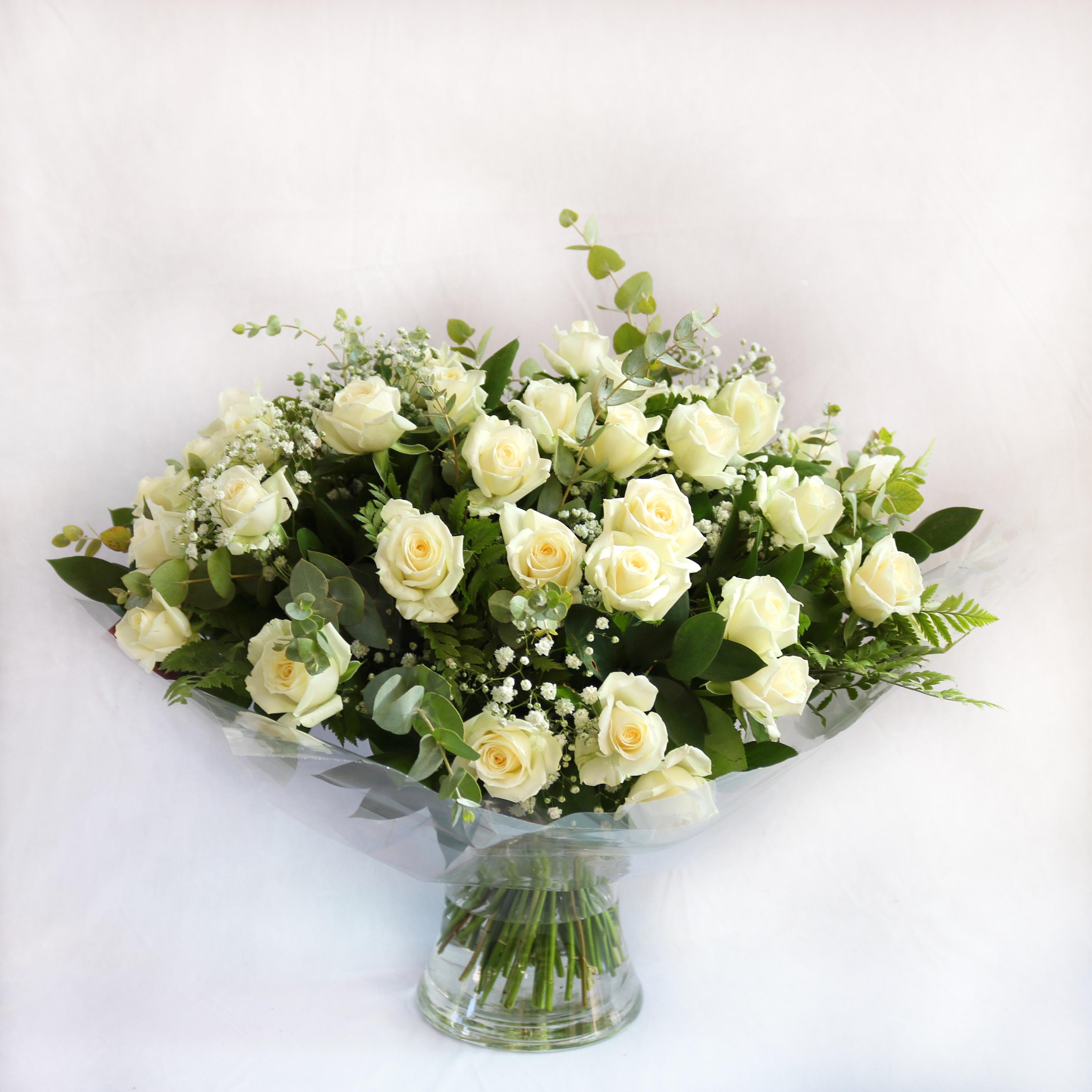 ורדים לבן בגדול