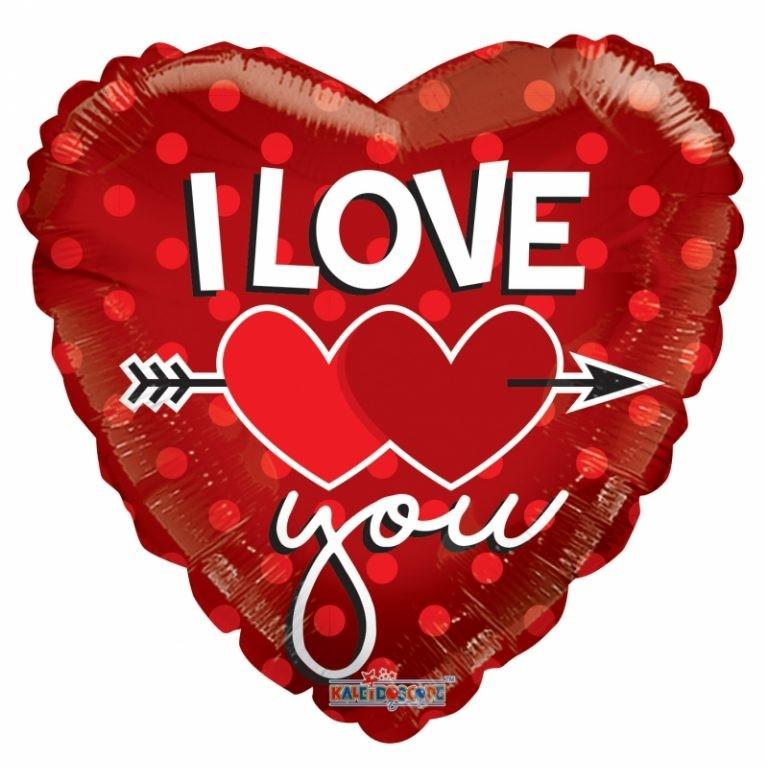 """בלון הליום 18"""" I LOVE YOU"""